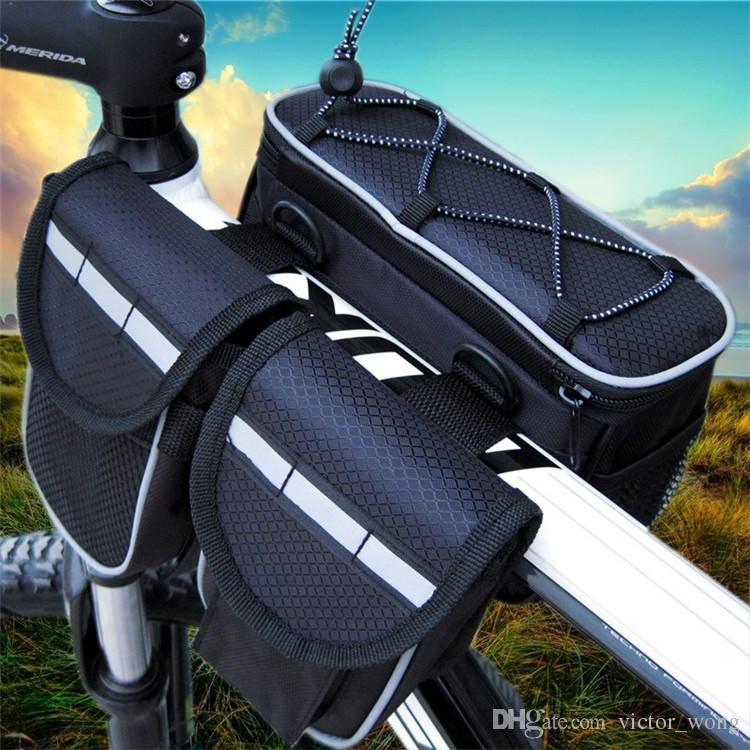 Impermeabile i Doppi lati Sella Ciclismo MTB Borse bici Sport Telaio anteriore Borse bici da corsa ciclismo all'aperto