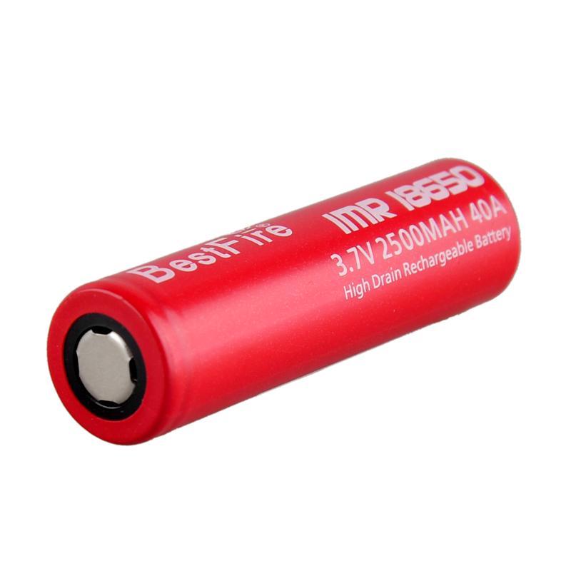 Mais novo Bestfire IMR 18650 2500 mAh 40A bateria Recarregável IMR 18650 e cig Bateria Bestfire 3.7 v IMR vape bateria 0269002-1