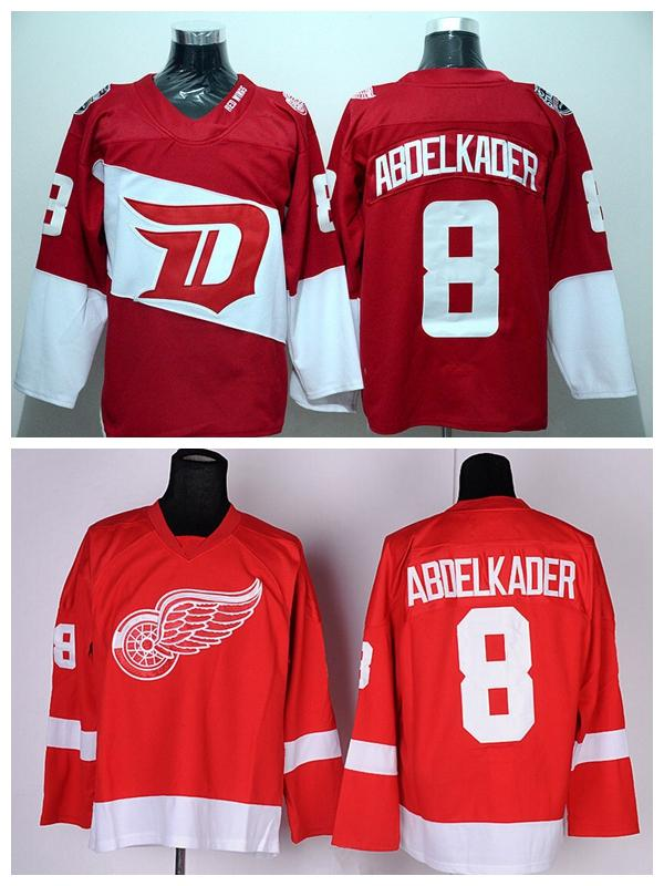 separation shoes 2a0a9 4dad3 greece detroit red wings 8 justin abdelkader red jersey ...