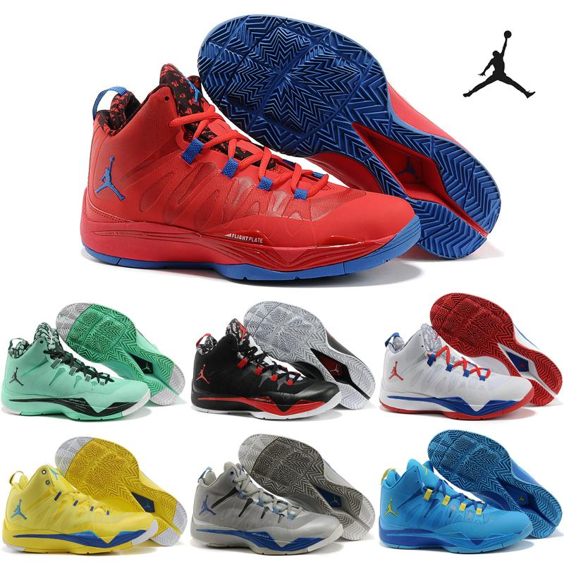 c399af85e6f96 2019 Nike Air Jordan Super.Fly 2 X Basketball Shoes Men 2016 Retro Griffin  Red Blue Sneakers Good Quality Original Discount Sports Shoes 8 12 From  Popular68 ...