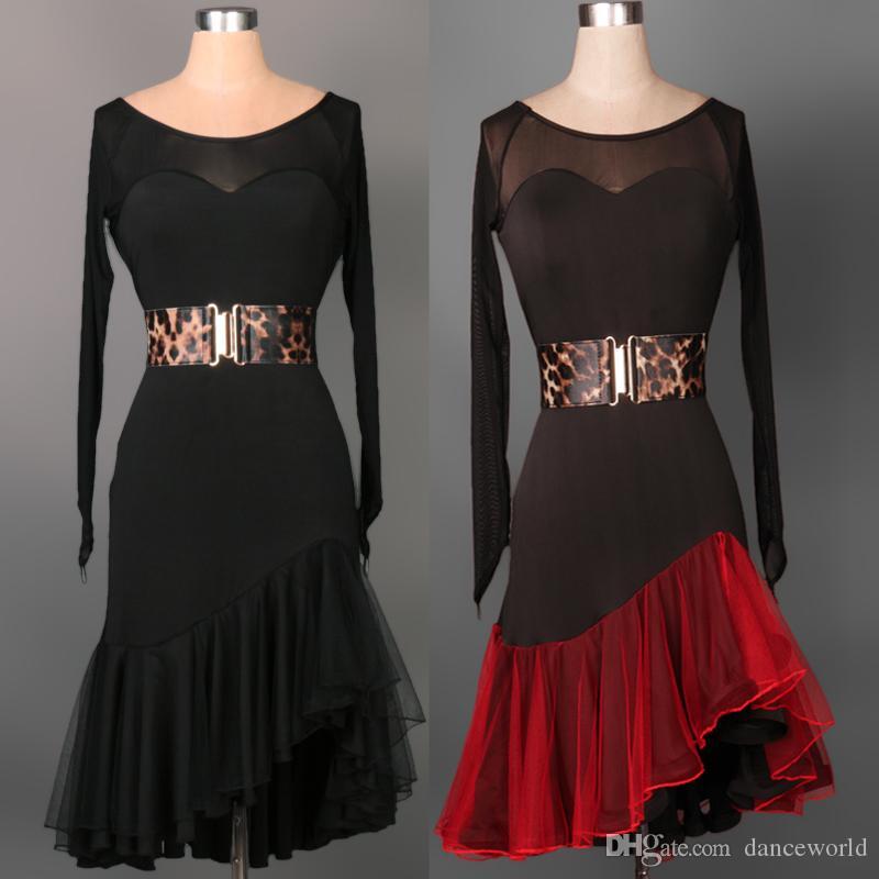 2018 Custom Made adulti / bambini vestito da ballo latino donne / ragazze Enfeites Para Quarto S-XXL vestito da ballo latino le donne discoteca senza cintura