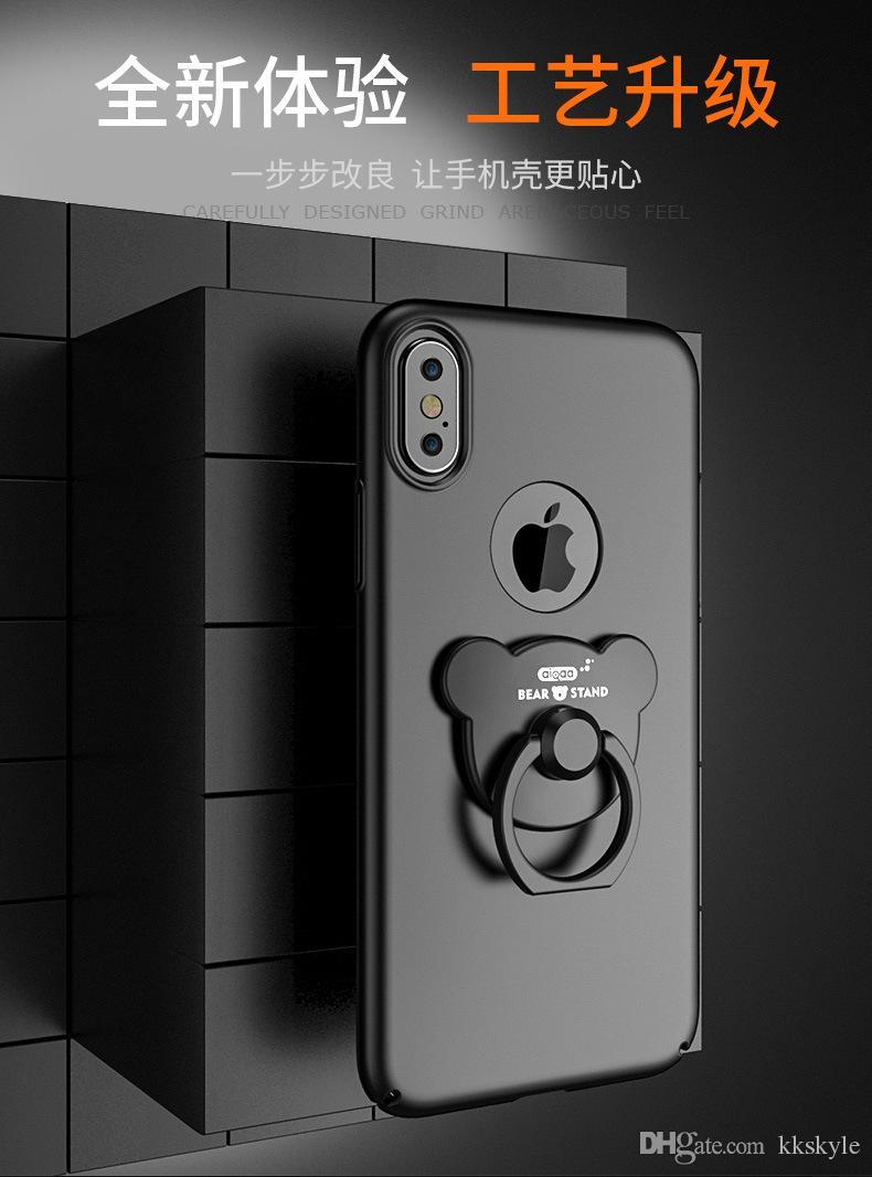 حافظة IPhone8 ، غطاء IPhone7 Plus مع حامل 360 حلقة دوران Bling Heart Ring لـ Apple IPhone7s Plus