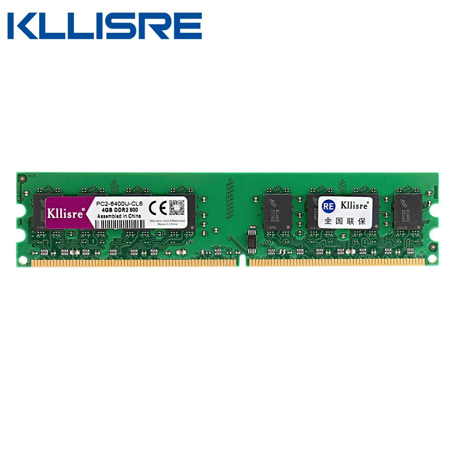 Kllisre Ddr2 4gb Ram 800mhz Pc2 6400 Desktop Pc Dimm Memory 240 Pins