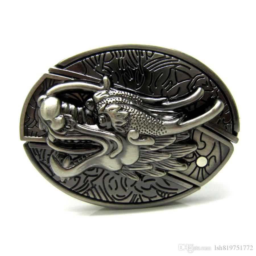 3d Chinese Traditional Faucet Pattern Belt Knife Belt Buckle Retro ...