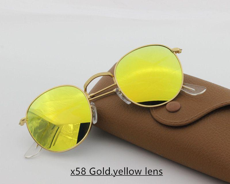Compre Explosión Clásica Gafas De Sol De Diseño De Alta Calidad Con Montura  Metálica Lente De Vidrio Para Damas Masculinas Moda De Alta Moda Gafas De  Sol ... 5f4b59c91d44