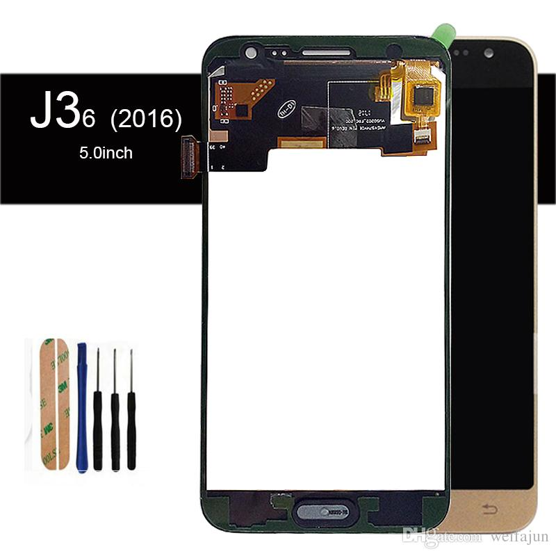Adjust Brightness Good Tested Well working LCD Display Touch Screen For  Samsung Galaxy J3 2016 J320 J320A J320F J320 Digitizer Assembly