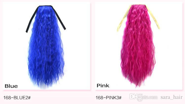 Sara 14 Renk Afro Puffs Ponytails İpli Sapıkça Derin Kıvırcık Saç At Kuyruğu Uzatma Uzun 60 CM, 24 inç PonyTail Sentetik Saç parçaları