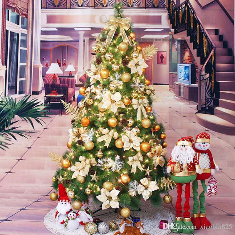 christmas tree 18 m 180cm high end simulation of pine needles christmas tree decorated christmas tree package encryption outside xmas decorations sale - Outside Christmas Tree Decorations
