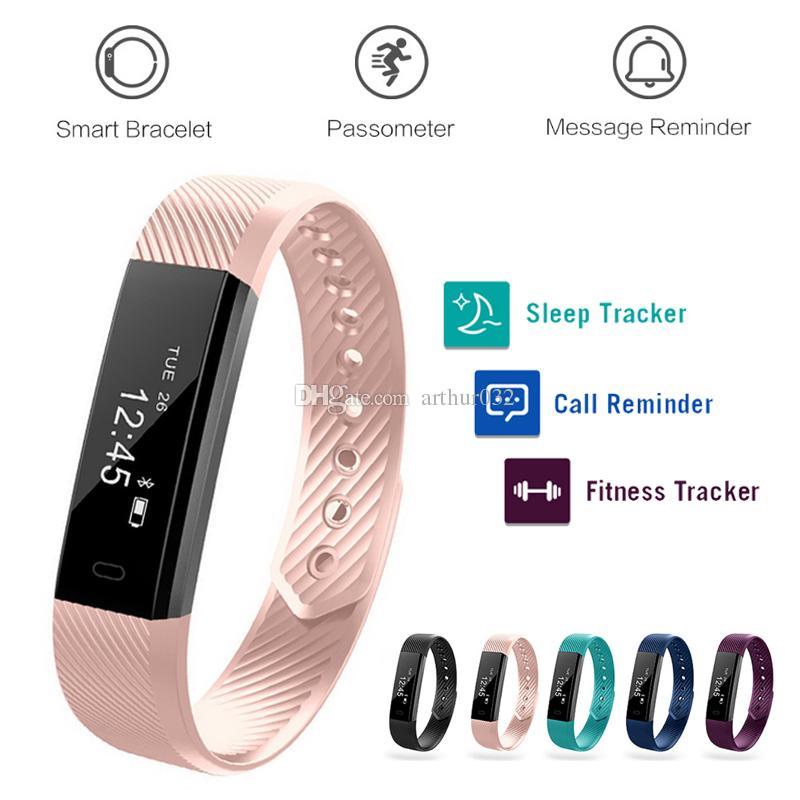 Veryfit ID115 Smart Bracelets Fitness Tracker Smartband Tracking Step  Counter Activity Monitor Band Alarm Clock Vibration Wristband Bracelet