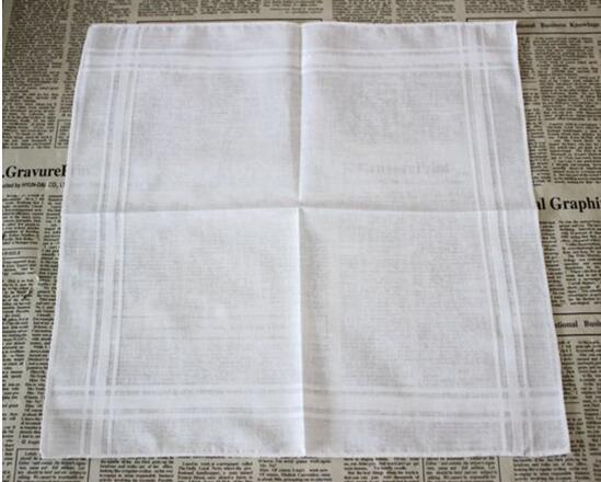 Party 34cm 100% Cotton Male Table Satin Handkerchief Towboats Square Handkerchief Whitest 34cm Men Christmas Gift