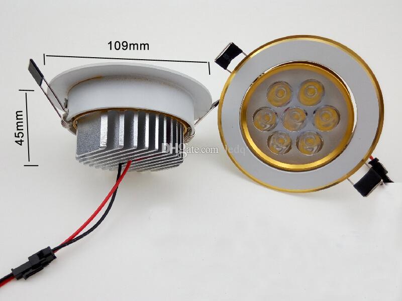 7W Downlights Techo LED Spot Lights Bulb AC 85 ~ 265V Chips brillante Lámpara para iluminación de la cocina Decoración Blanco cálido Día blanco Blanco frío