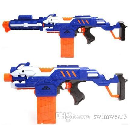 74cm Big Toy Gun Infrared Sighting Plastic Electric Nerf Gun Arma Toys CS  Game Soft Bullet