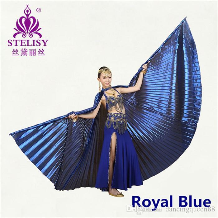 2017 Yeni Mısır Mısır Belly Dance Kostüm Isis Wings Dans giymek yok sopa 11 renkler