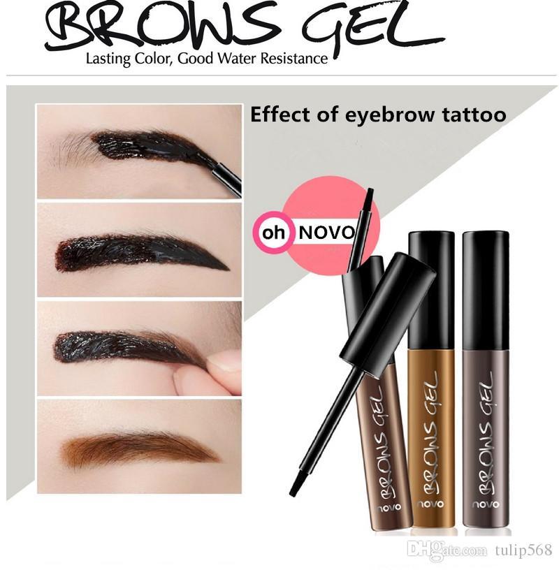 6 STÜCK Koreanische Kosmetik Wasserdicht Langlebige Ablösen Farbstoff Augenbraue Gel Creme Mascara Make-Up Stift Augenbraue Tattoo Tint Augen Make-Up