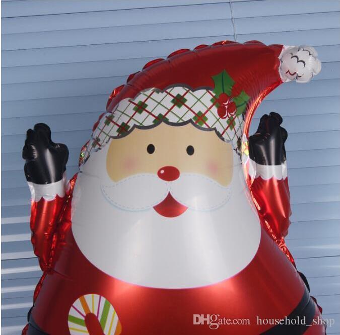 Weihnachtsballon Wasserstoff Helium Ballon Festival Dekorative Aluminiumfolie Ballon Weihnachtsmann Schneemann Design 63x45cm Automatische Abdichtung