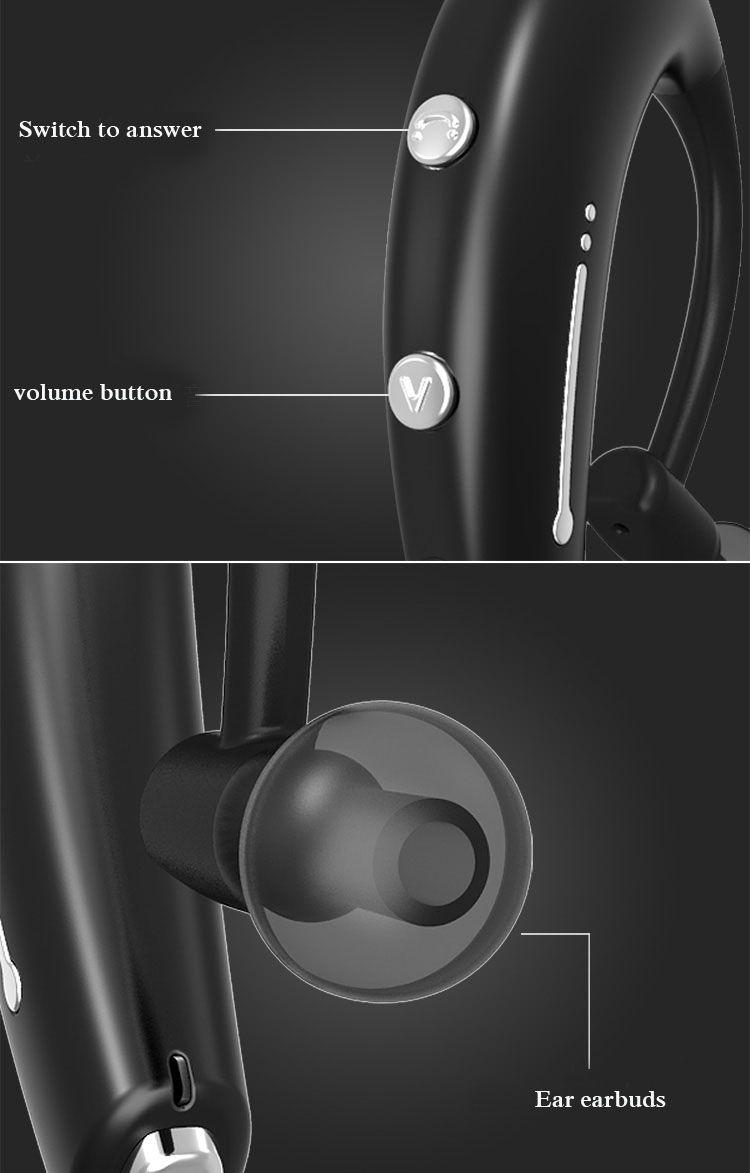 Sport drahtlose bluetooth kopfhörer ohrbügel stereo super bass lauf headset kopfhörer kopfhörer mit mikrofon für iphone x 8 samsung