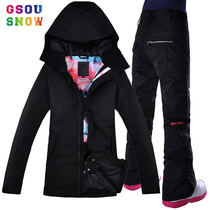 2019 Wholesale 2017 Gsou Snow Snowboard Jacket And Pants Women Black Ski  Suits Skihelm Womens Sports Jackets Brands Clothing Winter Sport Suit From  Peniss cd7df5f24