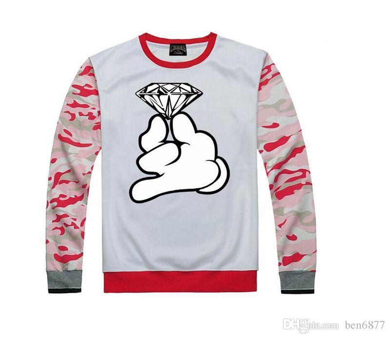 Spedizione gratuita s-5xl Crooks nuovo stile castello pullover felpa abbigliamento hip-hop moda abbigliamento New Felpe in pile