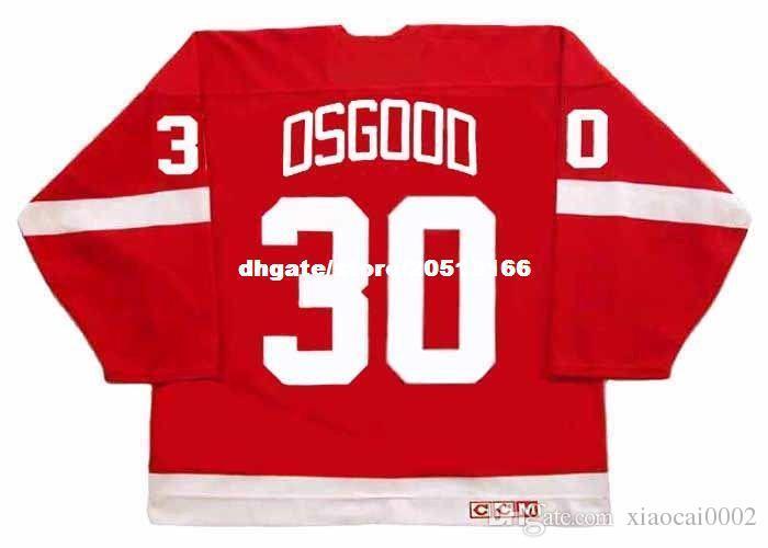 b4edc36dd 2019 Custom Mens CHRIS OSGOOD Detroit Red Wings 1995 CCM Vintage Cheap  Retro Hockey Jersey From Xiaocai0002