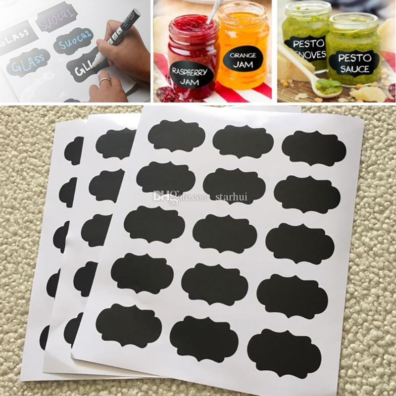 chalkboard sticker labels vinyl kitchen wall sticker jar decor