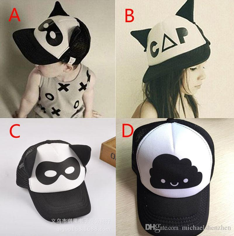 Baby Boys Girls INS Caps Hats Free EMS Children Fashion Cartoon Bat ... 51d12bc8e72f