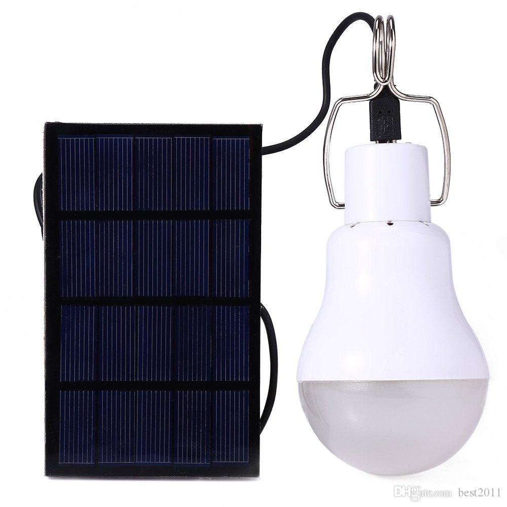 S-1200 15 W 130LM Portable Led Ampoule Jardin Solaire Alimenté Lumière Lumière Chargé Énergie Solaire Lampe de Haute Qualité Livraison gratuite