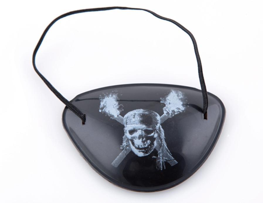 Novelty Pirate Eye Patch Skull Crossbone Eyepatch Eye Mask for Masquerade Halloween Cyclops Black - Mix Style