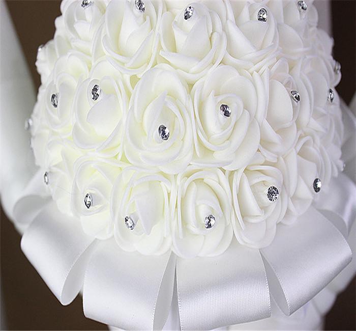 Couteaux pliants 2016 fleurs à la main broche bouquet de mariée mariée demoiselle d'honneur artificielle DÉCor bouquet de mariage mariée tenant des fleurs bouquet