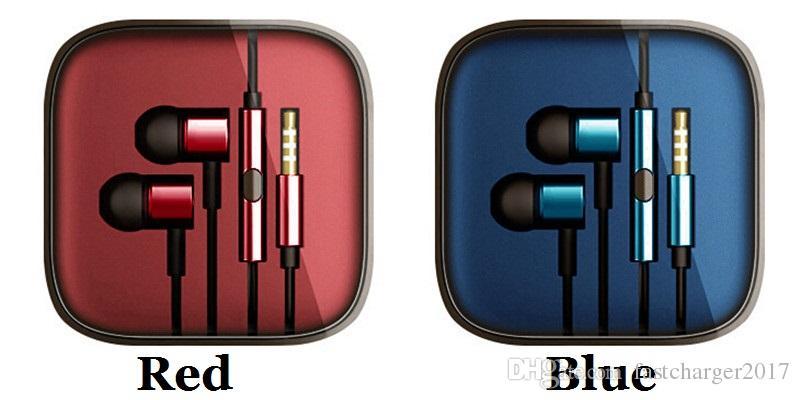 헤드폰 이어폰 소음 제거 귀에 헤드셋 이어폰이 이어폰 모든 스마트 폰용 마이크 리모콘이있는 이어폰