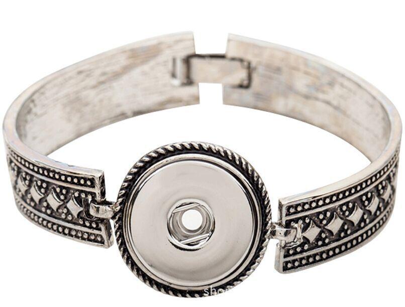 Новый Wangsh1 старинные имбирь щелкает 1 Оснастки браслет Fit Межконвертируемые 18 мм / 12 мм Оснастки кнопки ювелирные изделия