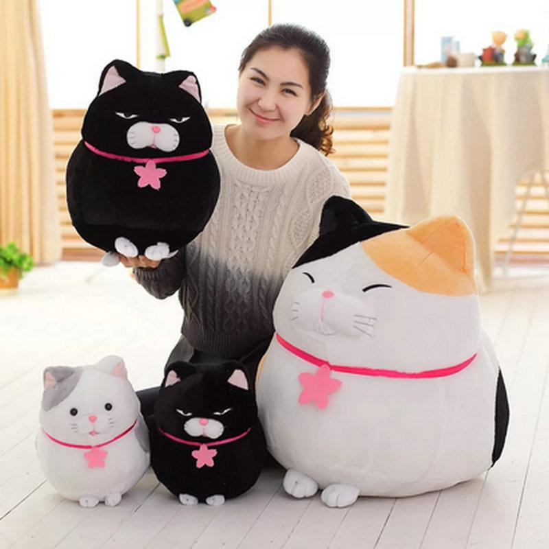 Japanese Stuffed Cat Black