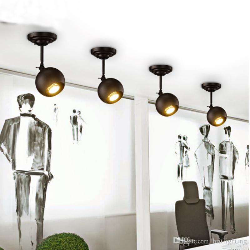 lighting spotlights ceiling. 2018 Modern Clothing Stores Bars Exhibition Halls Spotlights Ceiling Lights Industrial Wind Led Lamps Creative Pole Long Rod Guide Spotlight From Lighting
