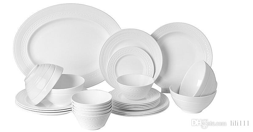 ... Set High Grade Embossed White Bone China Tableware Creative Custom Gift Set Dinnerware Sets Clearance Dinnerware Sets From Lili111 $160.81| Dhgate.Com  sc 1 st  DHgate.com & Western Relief High Grade Bone China Tableware Creative Gift Set ...