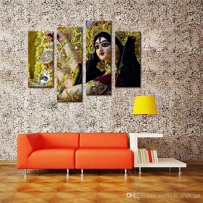 4 Picture Combination Paintings on Canvas Contemporary Art Abstract Paintings Wall Decorations Paintings For Dancers in India