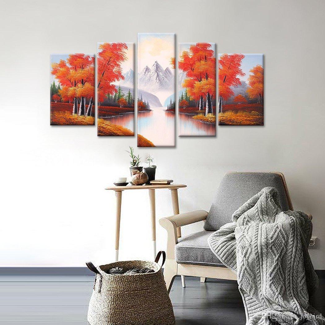 Großhandel Herbst Landschaftsmalerei Moderne Hauptdekoration 100 ...