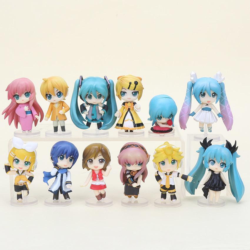 2018 Vocaloid Hatsune Miku Family Figures Rin Len Ruka Kaito Meiko Anime Figure Toys New In Box Chrismas Gift From Dongguanasmplastic 2266