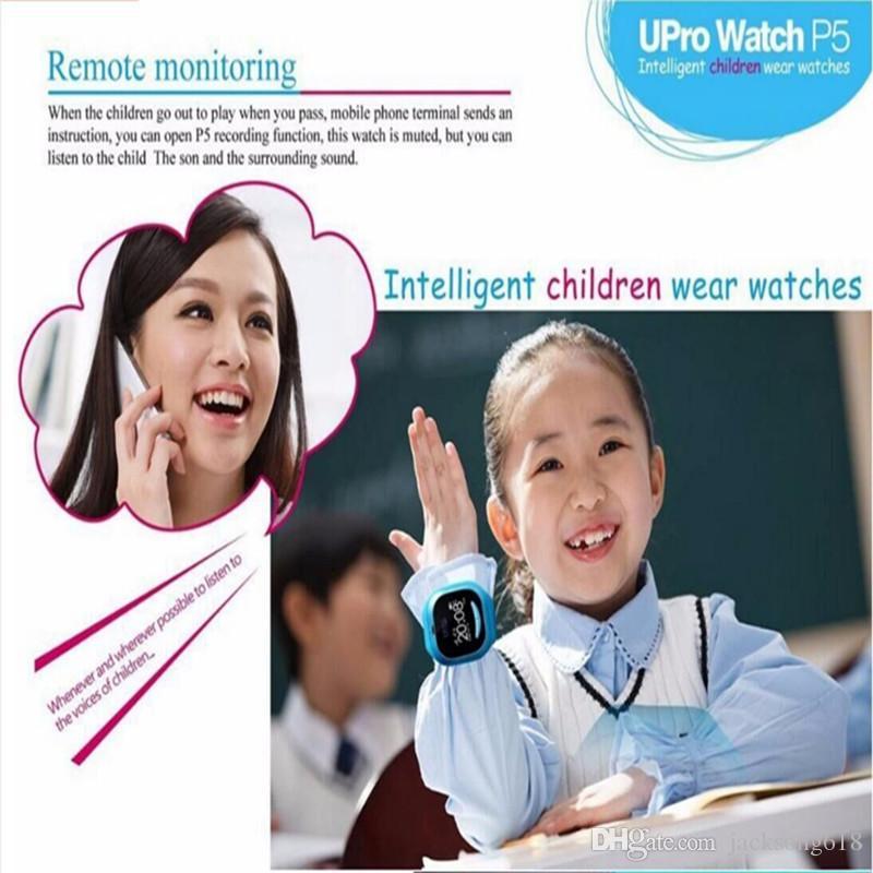 어린이를위한 스마트 조심 SOS 버튼 Anti-lost 어린이를위한 UPro P5 GPS WIFI 스마트 지능형 어린이 시계 추적 장치 아기 1 / 많은