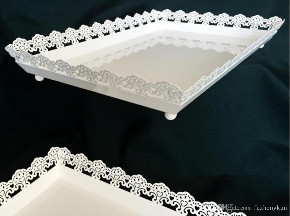 사각형 케이크 접시 금속 철 과자 디저트 도구를 베이킹 웨딩 파티 장식 공급 업체 스탠드 컵케익