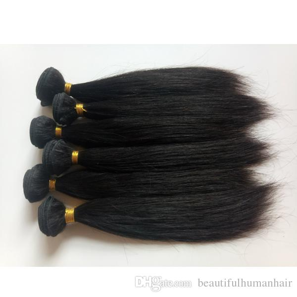 Brazilian Virgin Hair Weft 8 12inch Staright Hair Weaves European
