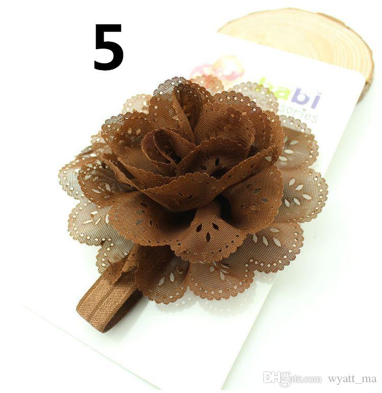 Avrupa ve Amerikan çocuk headdress bebek mısır çiçek elastik hairband bebek kafa bandı içi boş dalga kenar zarif bebek saç bandı
