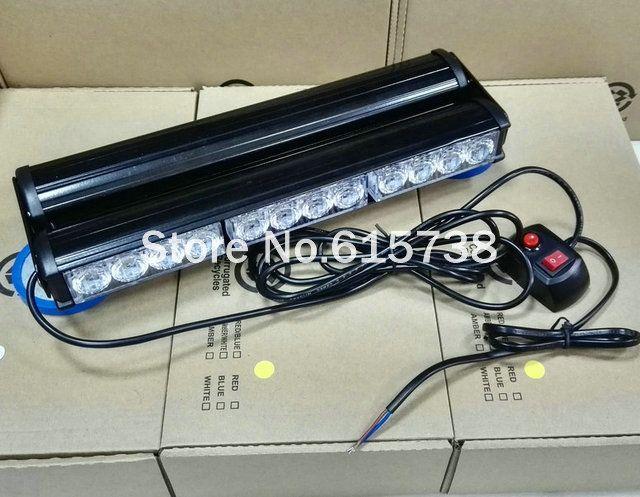 double Sides 24 LED car roof lightbar Strobe light flash lamp Emergency Vehicle Light 24w beacon light