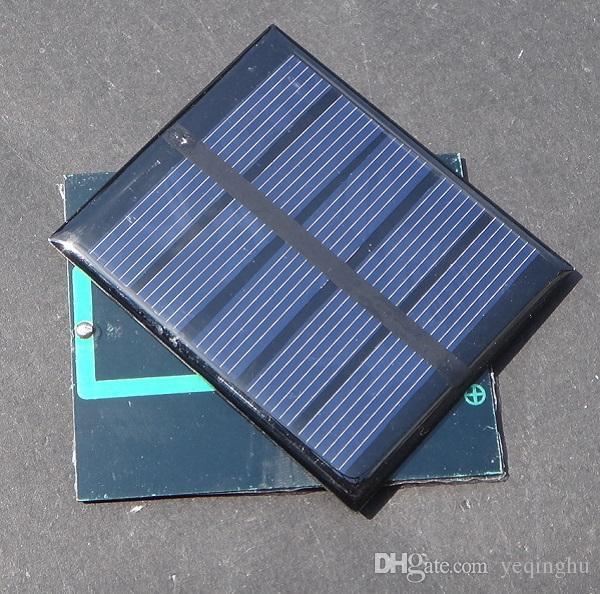 Qualität 0.5W 2.5V Solarmodul-Solarzelle-Modul DIY Spielzeug-Platte polykristalline Solarzelle-Platten-Epoxy 58 * 70 * 3MM / geben Verschiffen frei