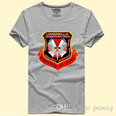 5dc4ac2abdd1ec Umbrella Corporation T Shirt Resident Evil Short Sleeve Gown Biohazard Film  Tees Leisure Printing Clothing Unisex Cotton Tshirt T Shirts Deals Super  Cool T ...