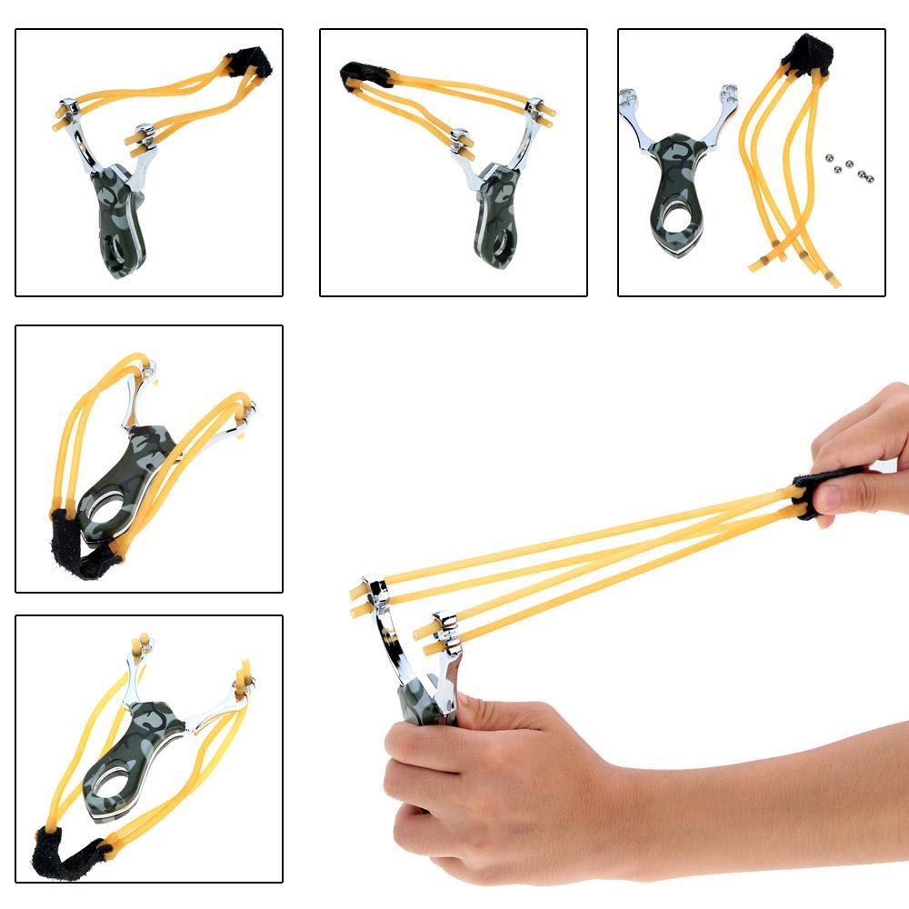 Hot Sale Slingshot Outdoor Powerful Marble Hunting Slingshot Catapult for Children Outdoor Games