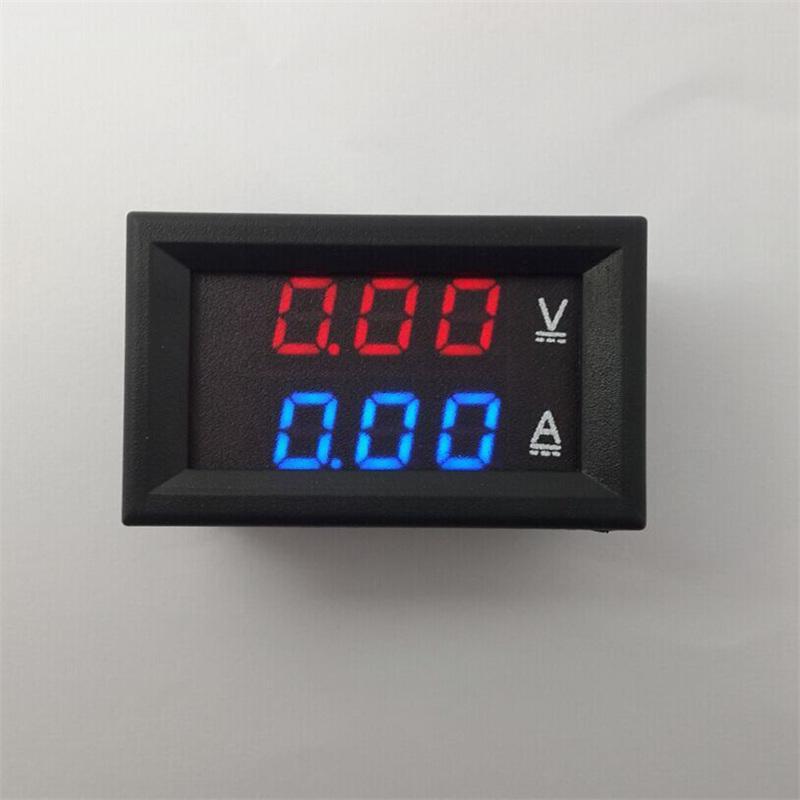 DC двойной Амперметр вольтметр 0.28 дюймов ЖК-дисплей цифровой метр тестеры батареи для автомобилей электрические Vechiles GNEA048