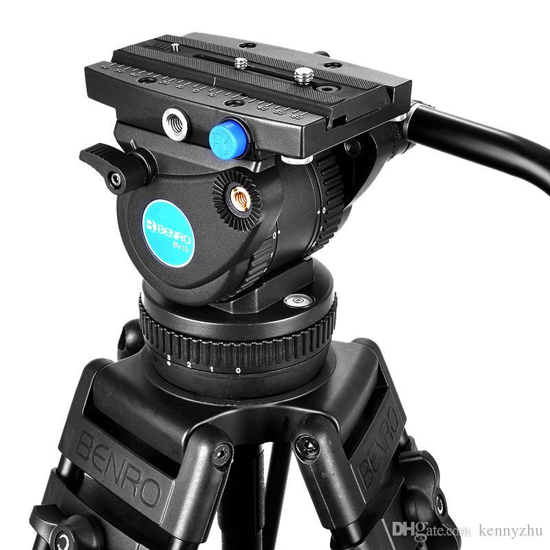 Benro BV10 Professional Video Camera Camcorder طقم ترايبود تحميل 10 كجم / 22lb للتصوير السينمائي والتلفزيوني / البث المباشر / تسجيل الزفاف