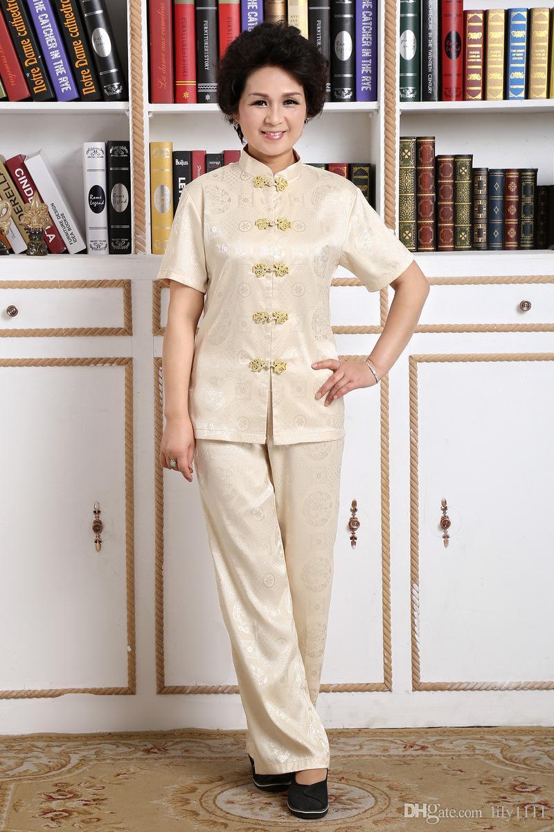 Storia di Shanghai Manica corta cinese tradizionale Clohting cinese kung fu Tai Chi Uniformi coppia Artes Marciais 6 Style