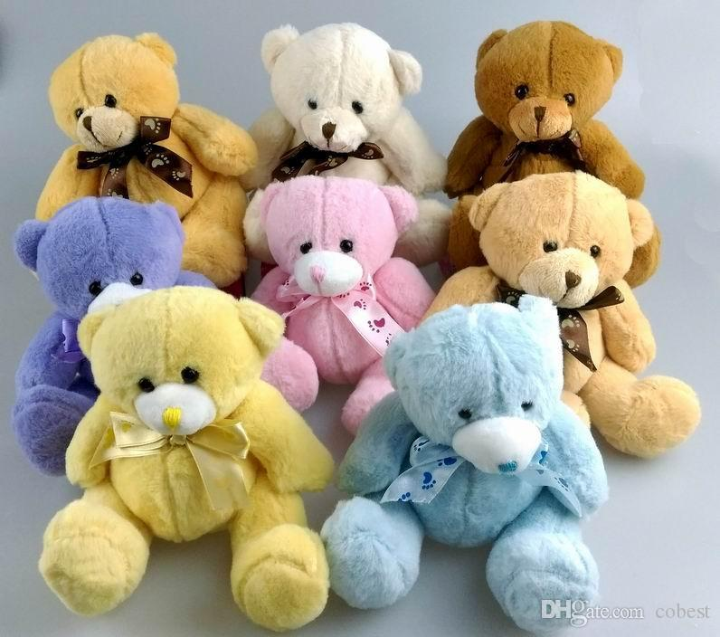 54fb9056c74 Teddy Bears Plush Toys High Quality 15cm Cute Soft Plush Baby Teddy ...