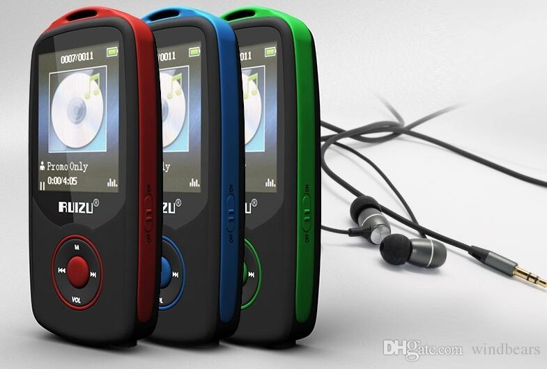 Nuevo original RUIZU X06 8GB Bluetooth deportes reproductor de música MP3 con 1,8 pulgadas de pantalla 100 horas grabadora sin pérdida Radio FM DHL Envío rápido