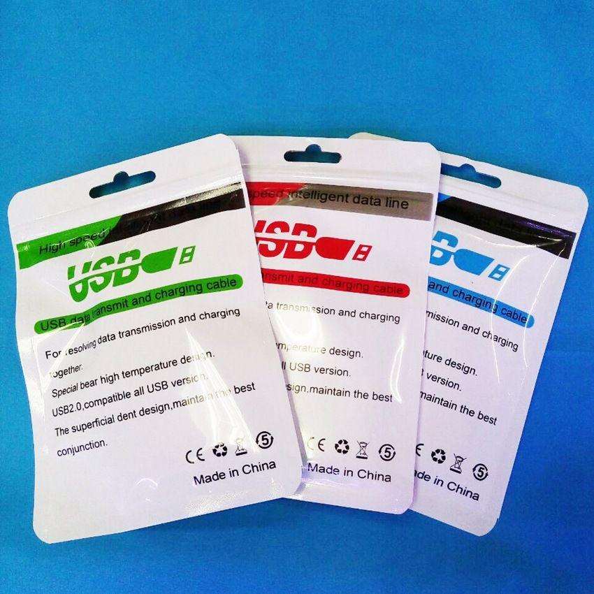 10.5 * 15 cm Qualité Vente Au Détail Paquet Boîtes Pour Micro USB Chargeur Data Sync Câble Audio Écouteur iphone Samsung Galaxy
